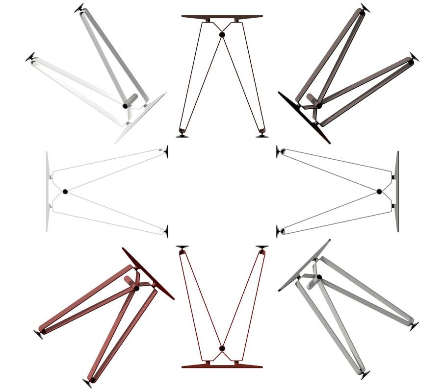 Della Chiara Diagramma scrivania gambe Gallery