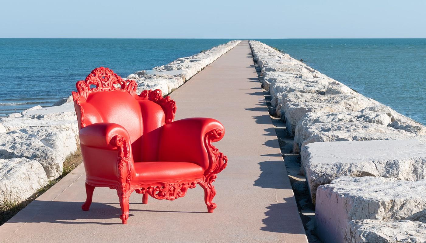 Magis Proust poltrona outdoor mendini rossa - gallery