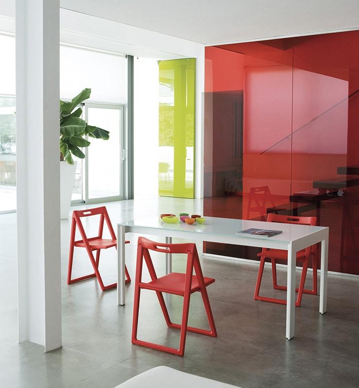 Pedrali Enjoy sedia pieghevole rossa - gallery