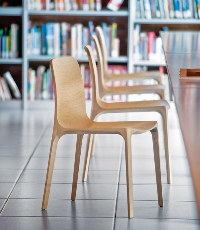 Pedrali Frida sedia legno rovere - gallery