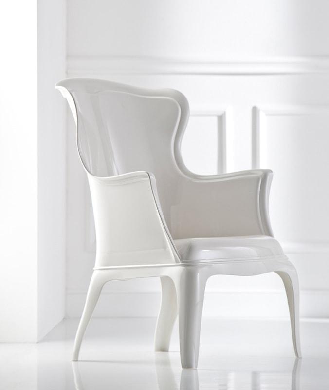 Pedrali Pasha poltrona bianca - gallery 2