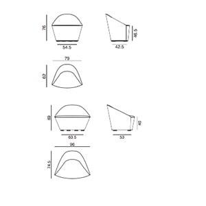 poltrona Colina - dimensioni