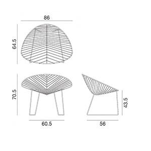 Arper Leaf poltroncina lounge - dimensioni