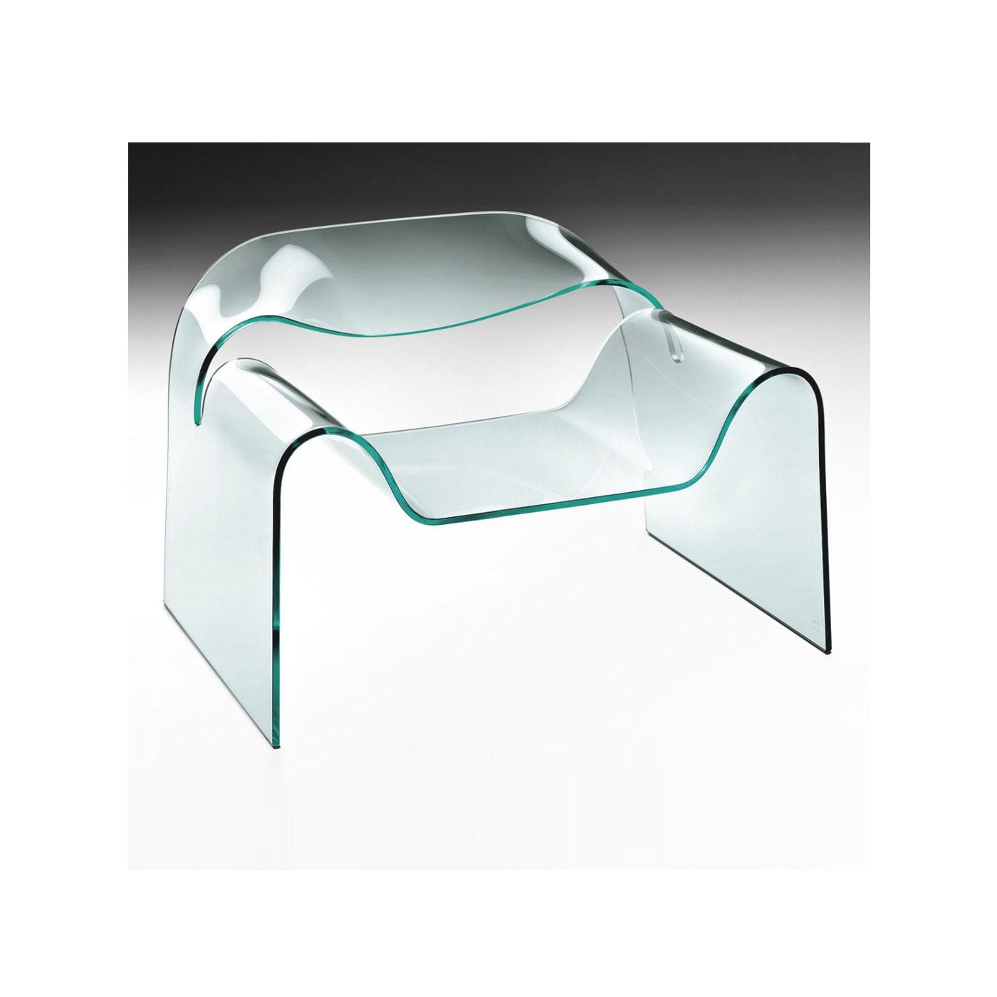 FIAM Ghost poltrona vetro curvato Cini Boeri