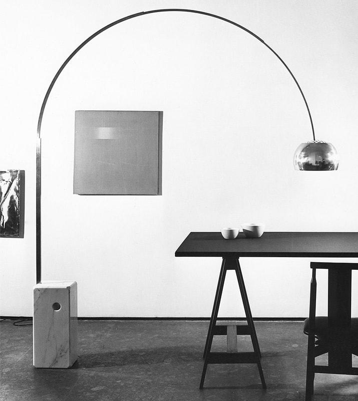 FLOS Arco lampada terra base marmo gallery