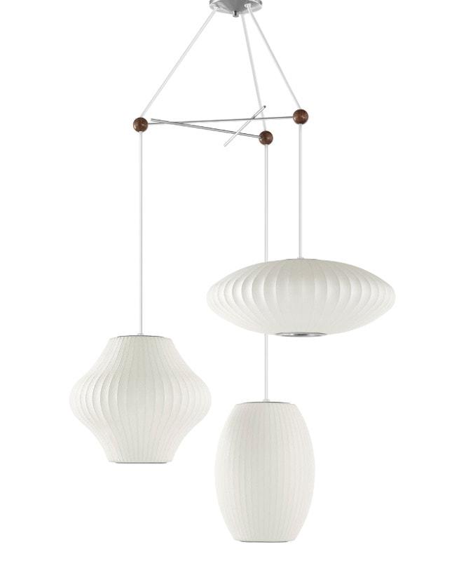 HM Triple Bubble Lamp Fixture