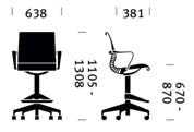 Herman Miller Setu stool - dimensioni