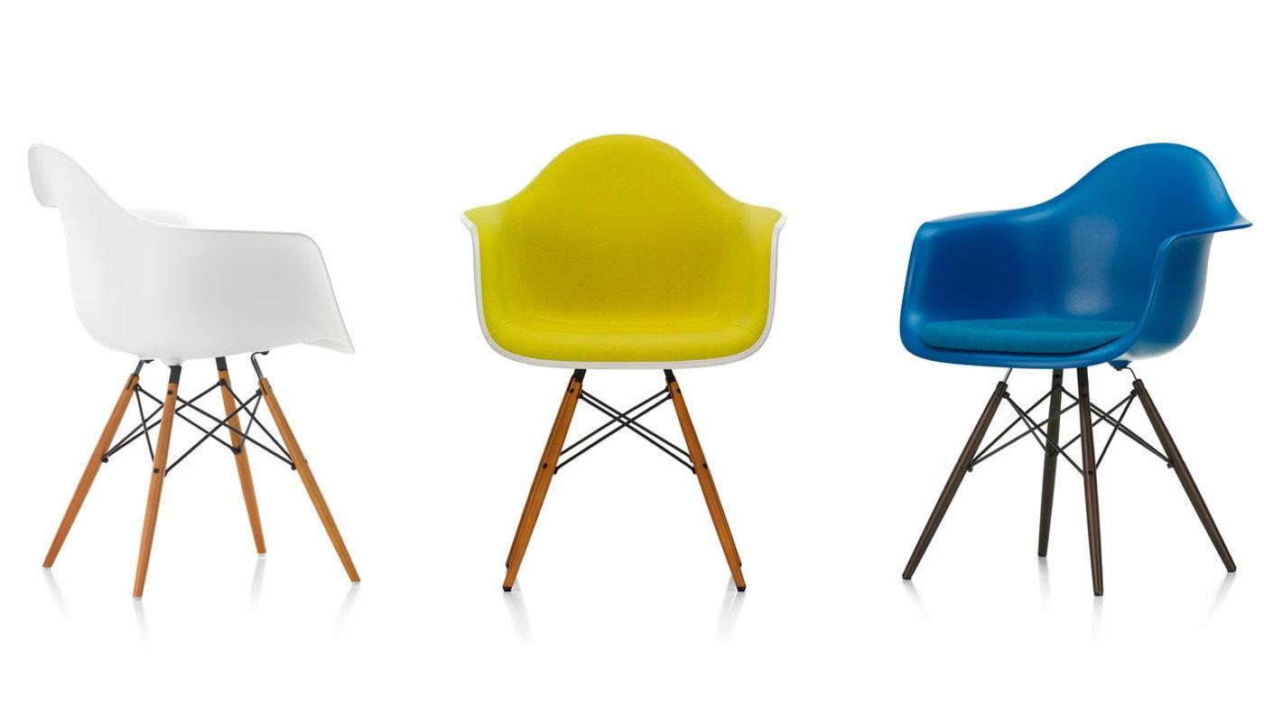 Eames Plastic Armchair DAW poltroncina Vitra