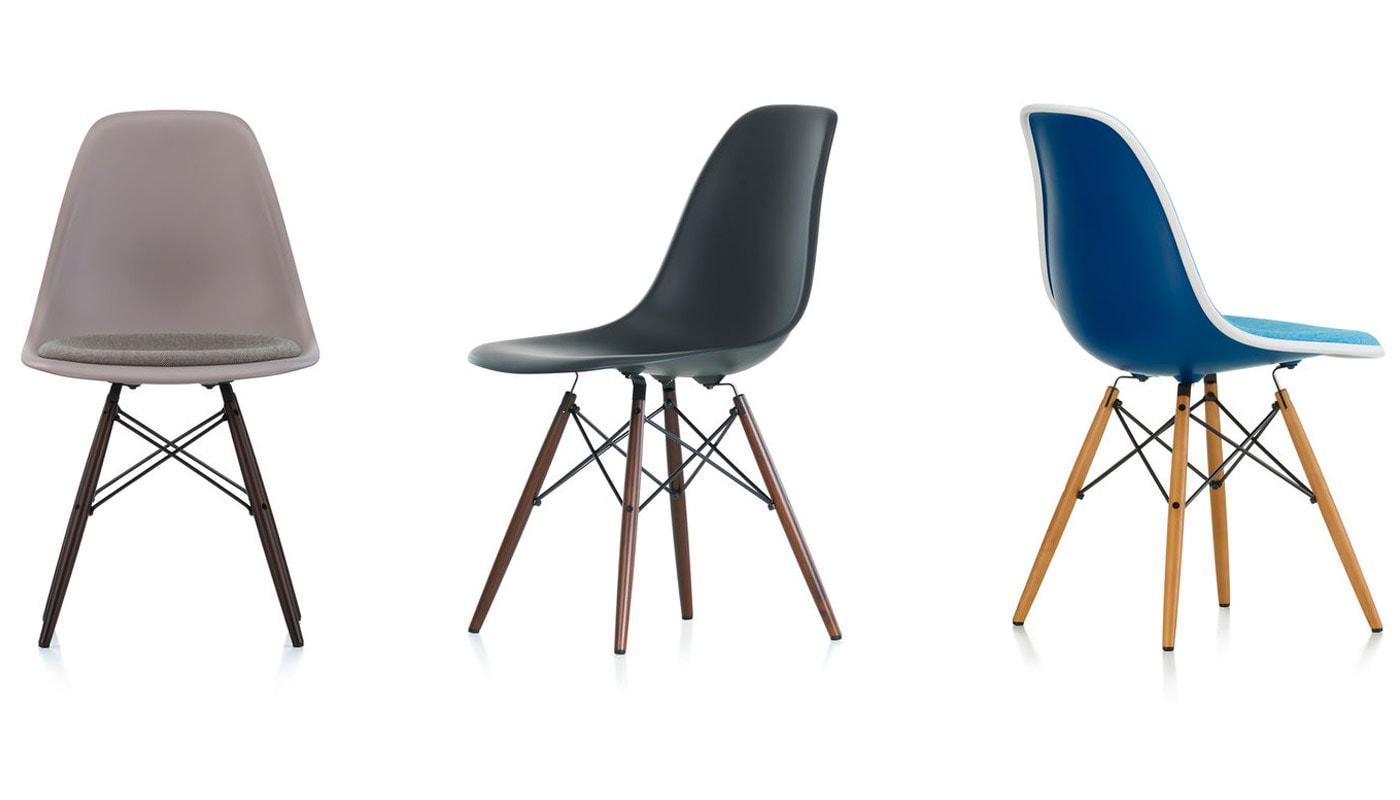 Eames Plastic Side Chair DSW sedia