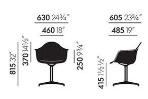Vitra Eames Plastic Armchair DAL - dimensioni