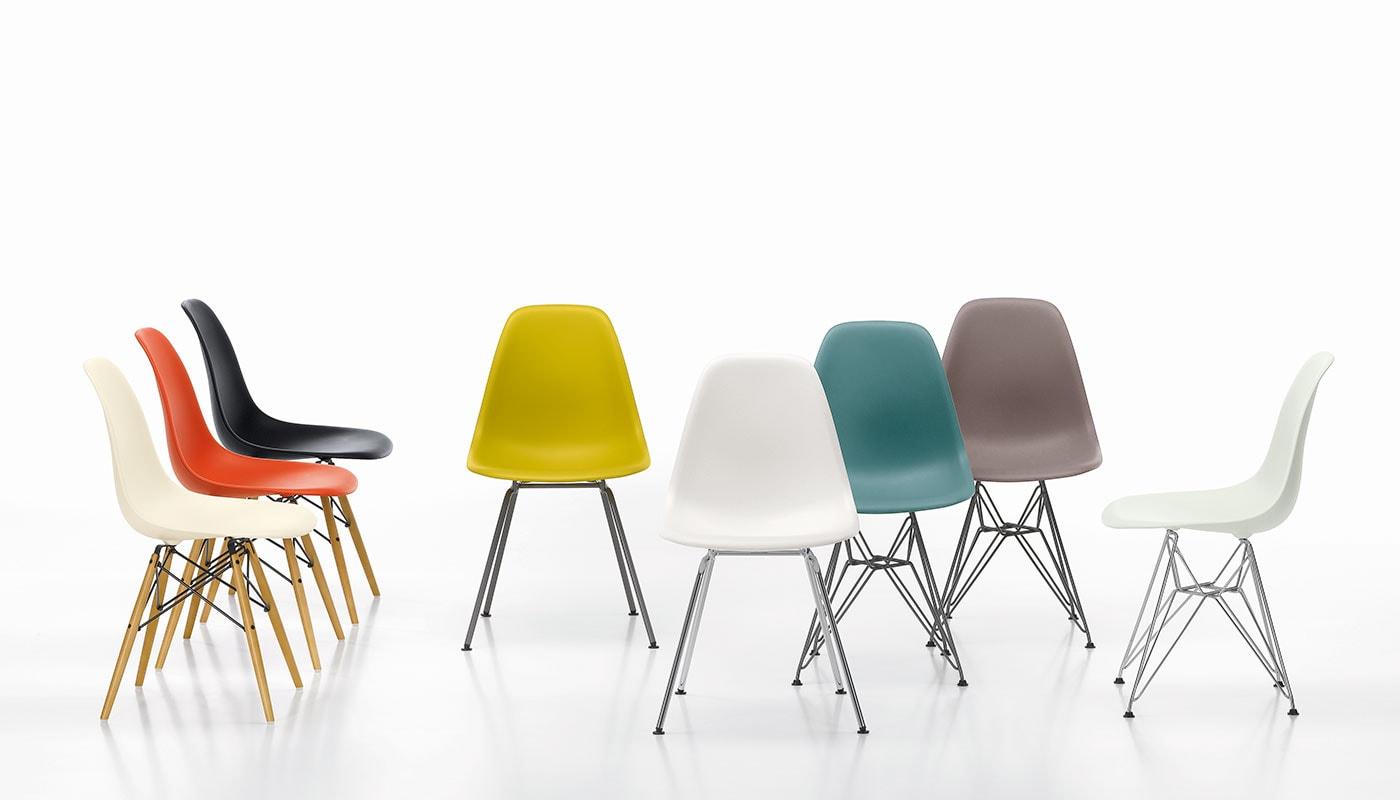 Vitra Eames Plastic Side Chair DSW sedia