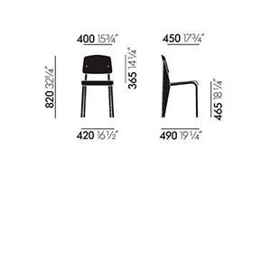 Vitra Standard SP sedia - dimensioni