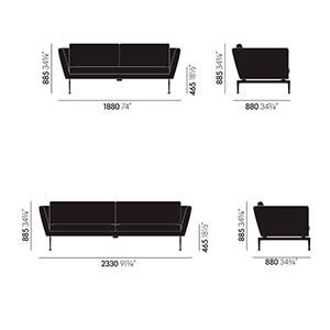 Vitra Suita sofa - dimensioni