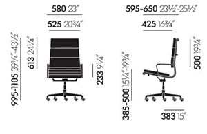 Vitra Soft Pad Chairs EA 219 poltrona direzionale