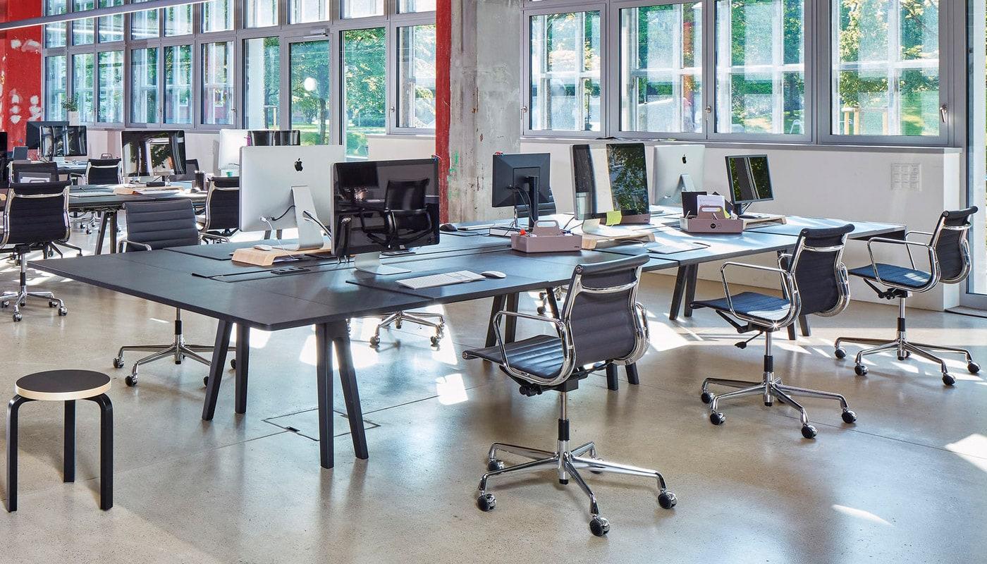 Aluminium Chairs EA 117, 118 poltrona ufficio