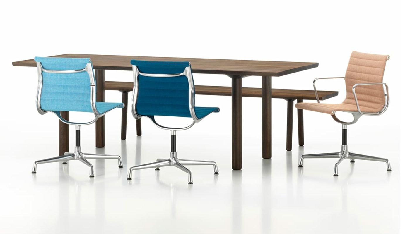 Aluminium Chairs EA 105, 107, 108 seduta ospiti e riunioni