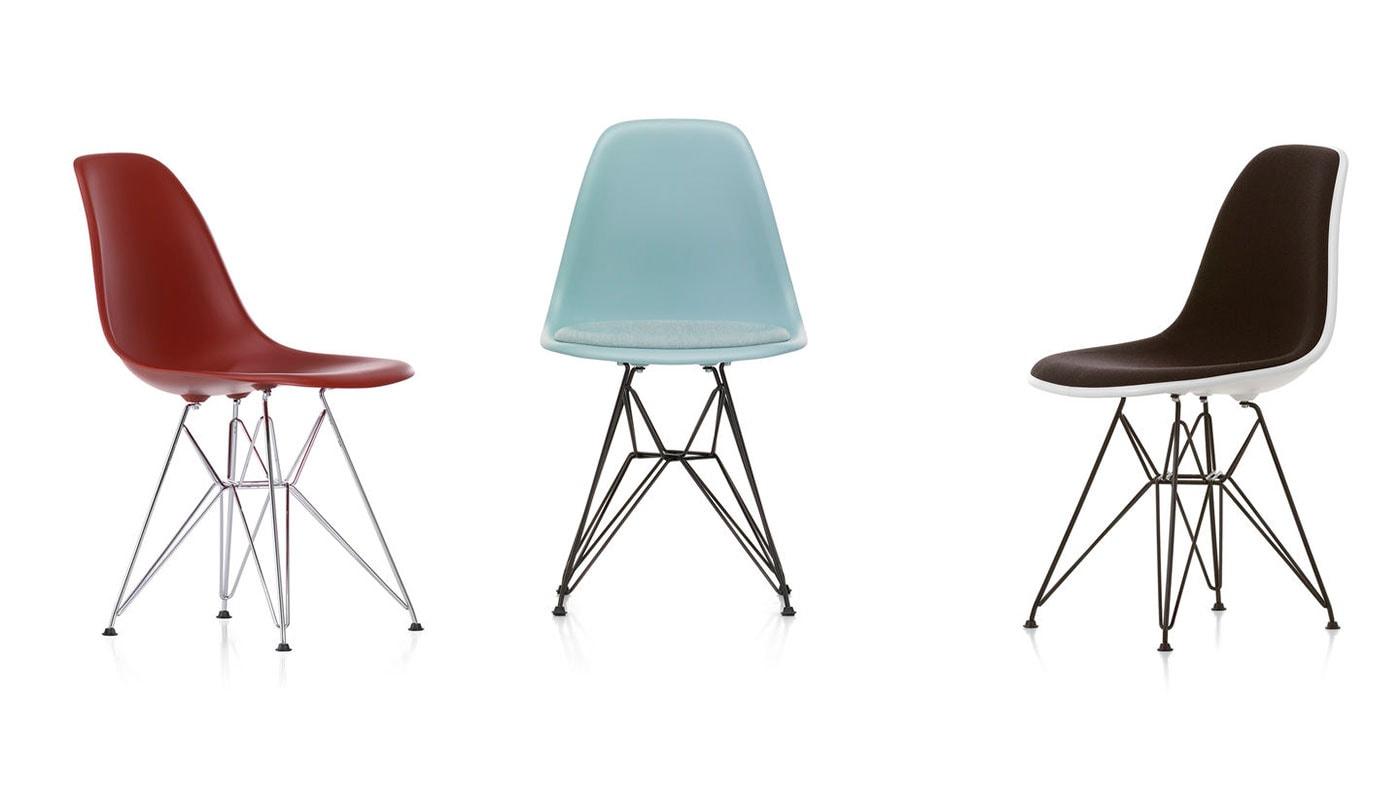 Eames Plastic Side Chair DSR sedia