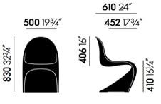 Vitra Panton Chair - dimensioni
