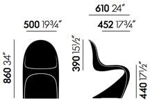 Vitra Panton Chair nuova altezza- dimensioni
