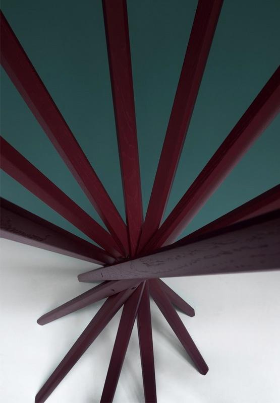 Zanotta sciangai appendiabiti legno - gallery