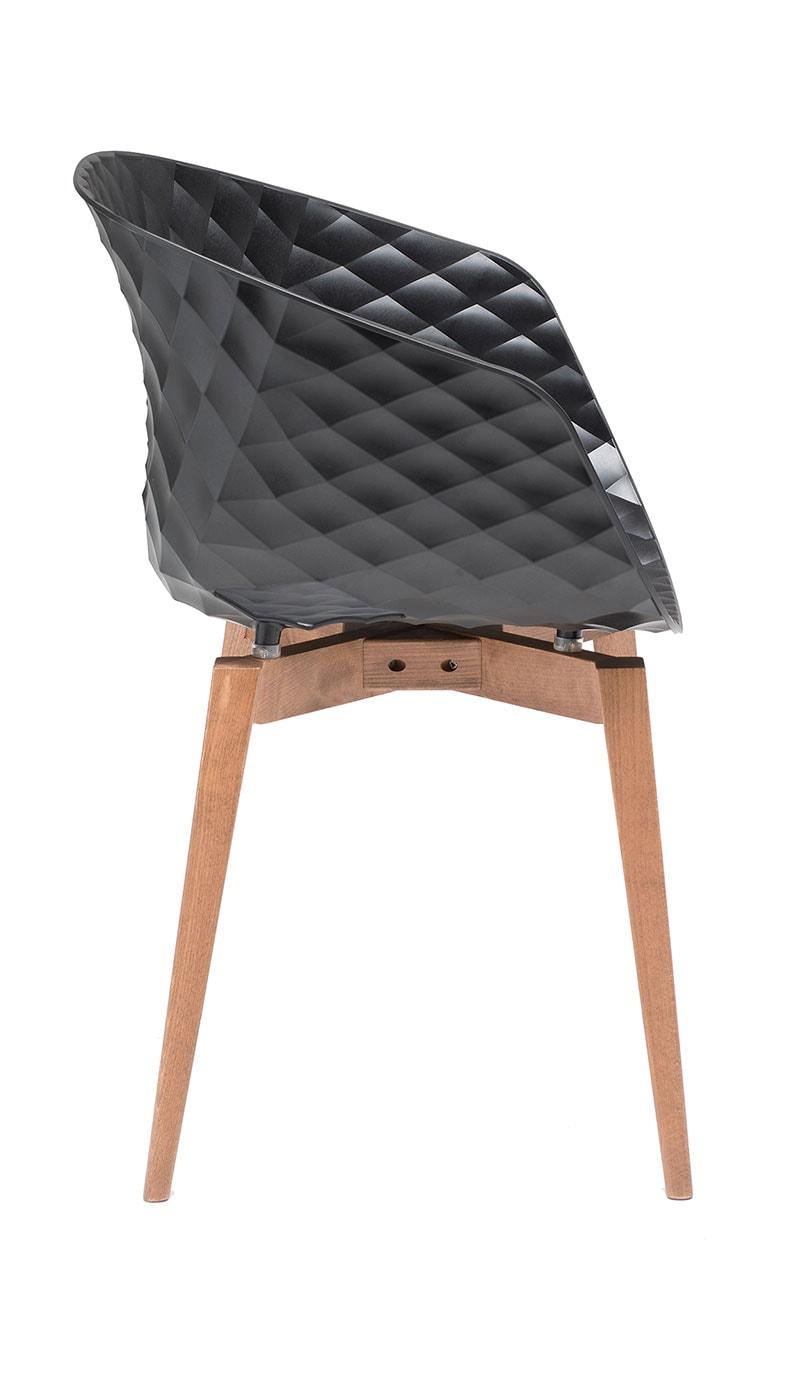 Uni-Ka poltroncina gambe in legno
