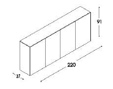 Unifor LessLess contenitore - dimensioni