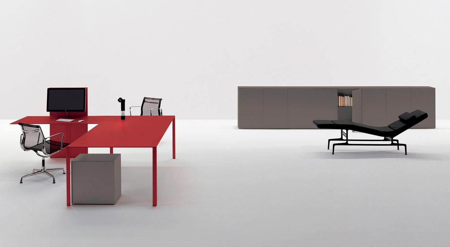 UNIFOR LessLess Color tavolo contenitore gallery