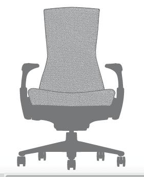 Herman Miller Embody poltrona ufficio - dimensioni