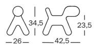 Magis Puppy small - dimensioni