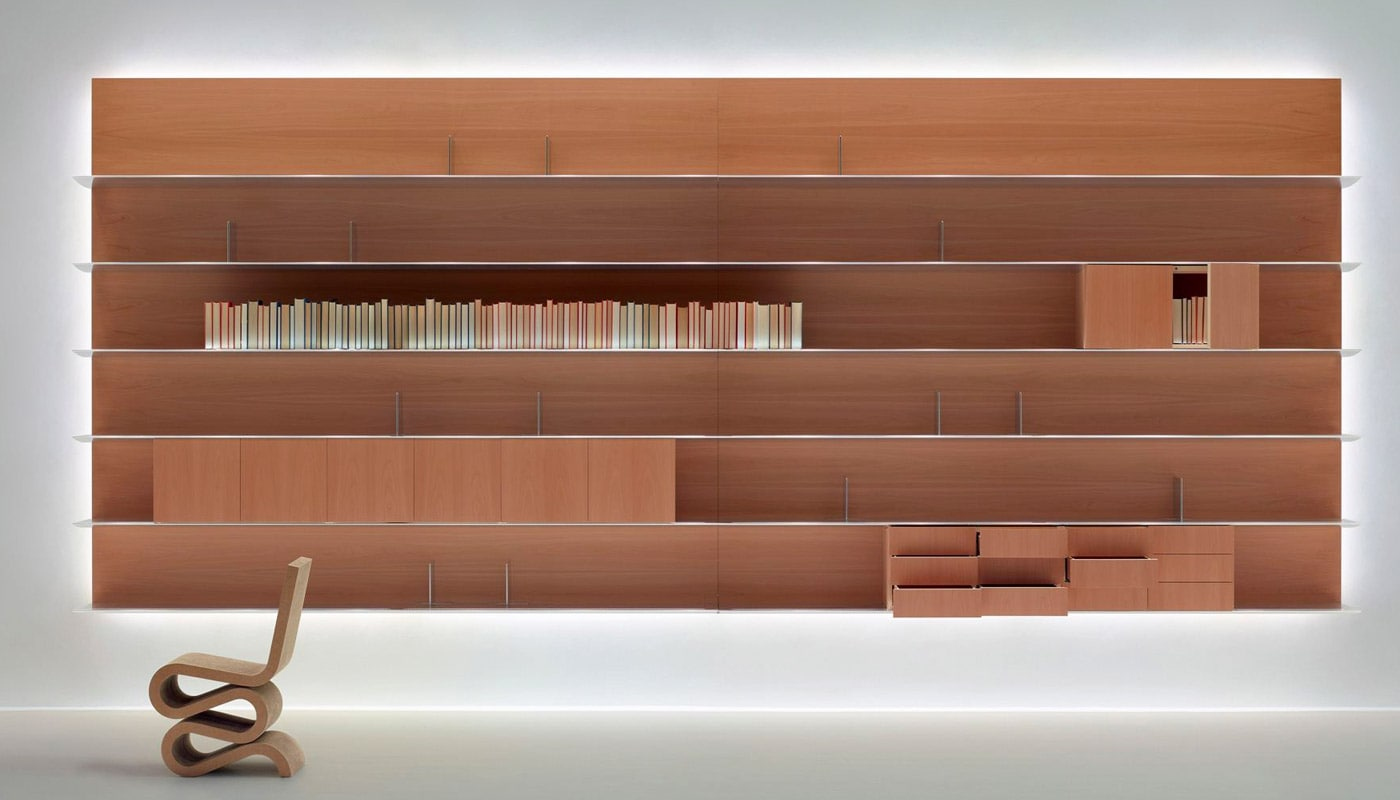 Libreria Bifacciale A Soffitto unifor naòs libreria - della chiara store