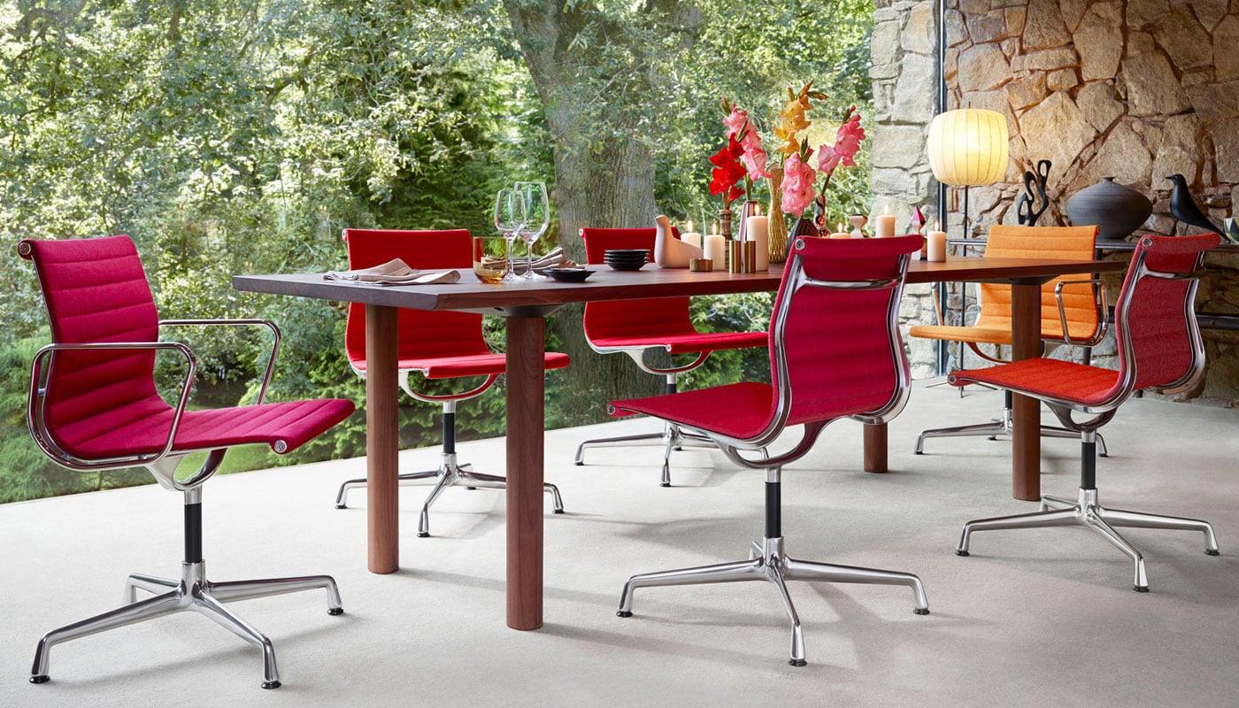 Aluminium Chair EA 104 seduta girevole