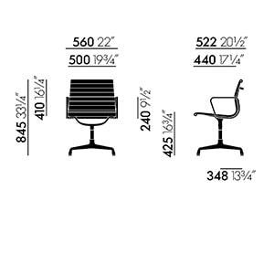 Vitra Aluminium Chair EA 104 seduta - dimensioni