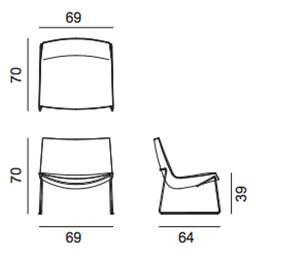 Catifa 60 Lounge Chair - dimensioni