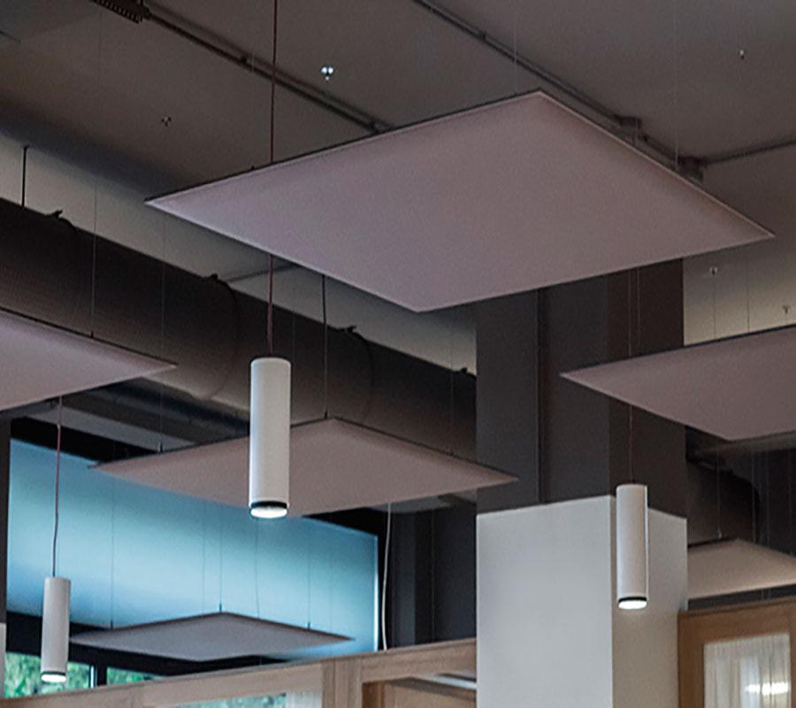 Oversize pannello acustico a parete e soffitto