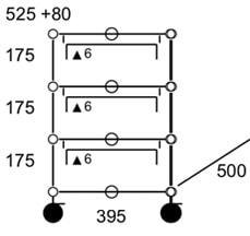 USM Haller cassettiera con ruote - dimensioni