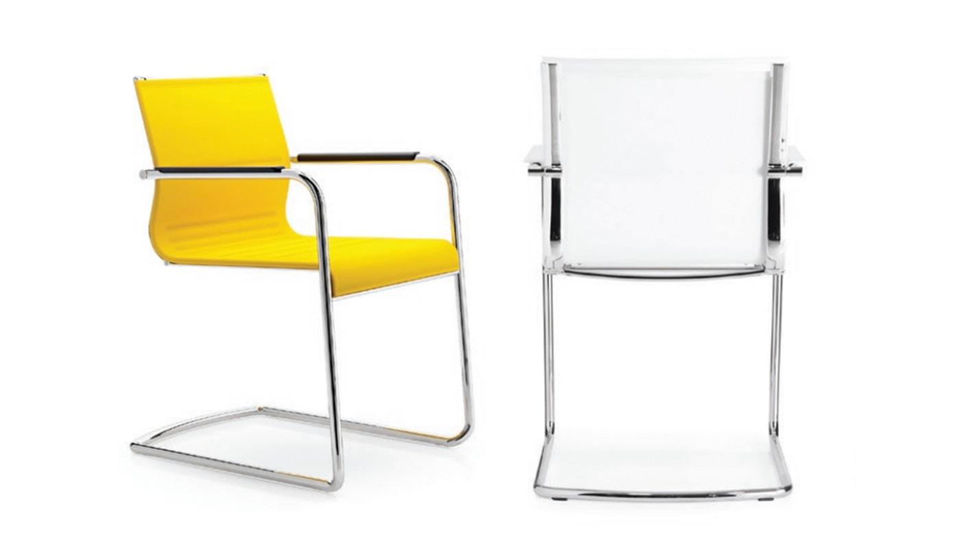 Stick Chair ATK seduta ospiti – base cantilever