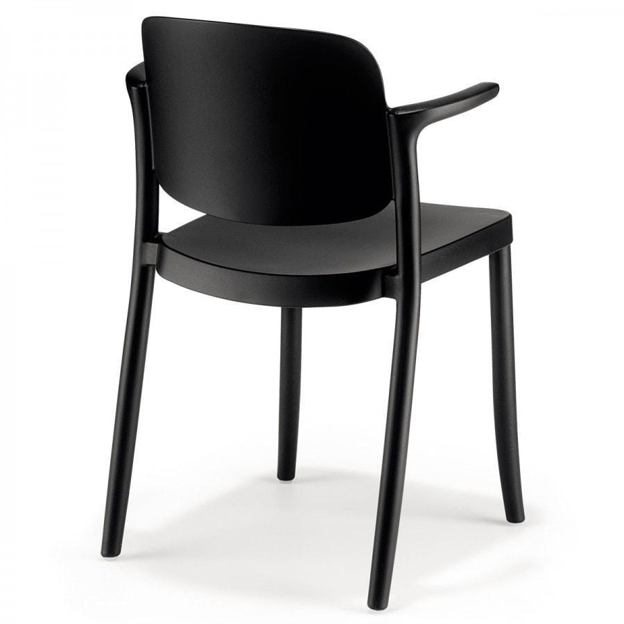 COLOS sedia impilabile con braccioli gallery