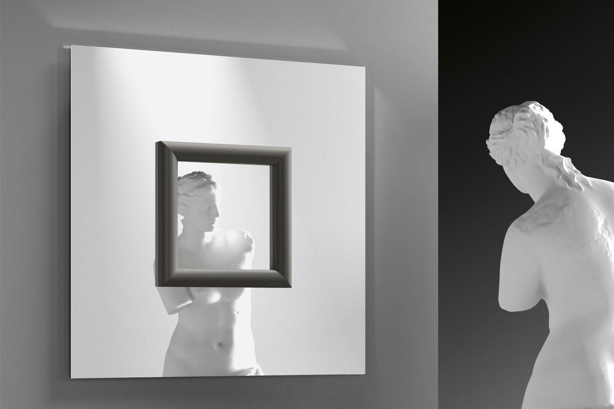 FIAM Ritratto specchio con cornice quadrata gallery