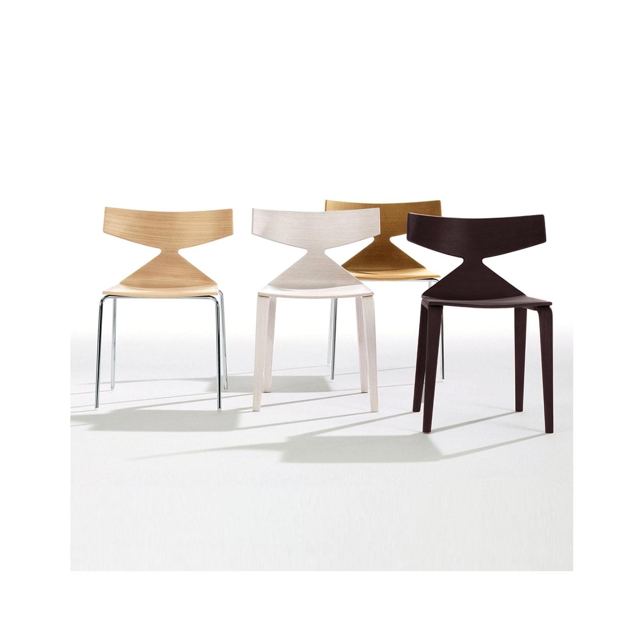 Arper Saya sedia in legno - vendita online