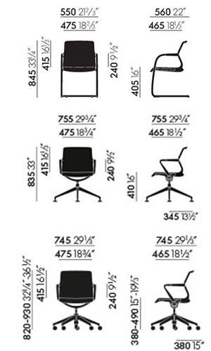 Vitra Unix Chair sedia ufficio