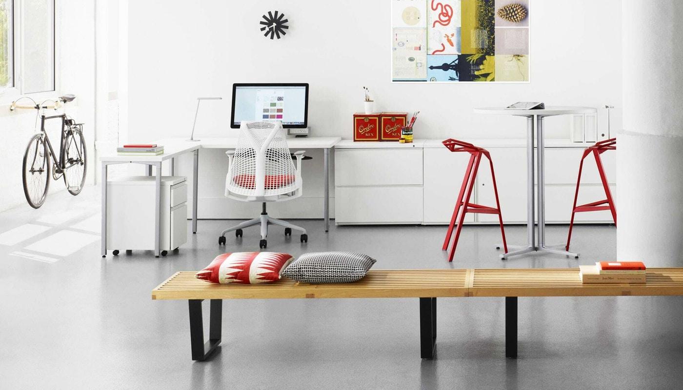 Vitra Nelson bench panca in legno- Sayl Herman Miller - gallery