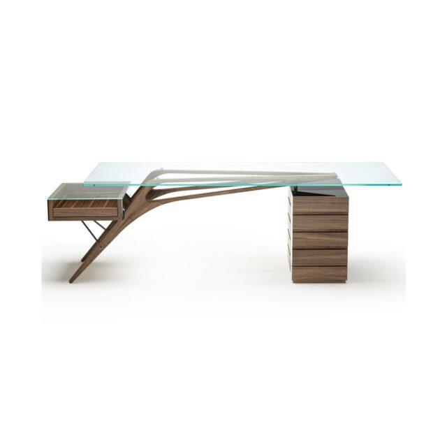 ZANOTTA Cavour scrivania gambe legno