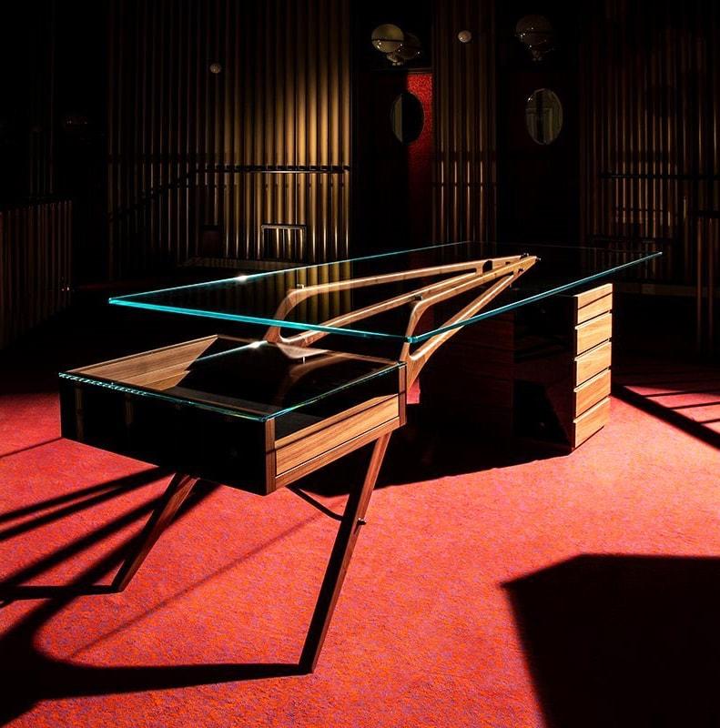 ZANOTTA Cavour scrivania gambe legno gallery
