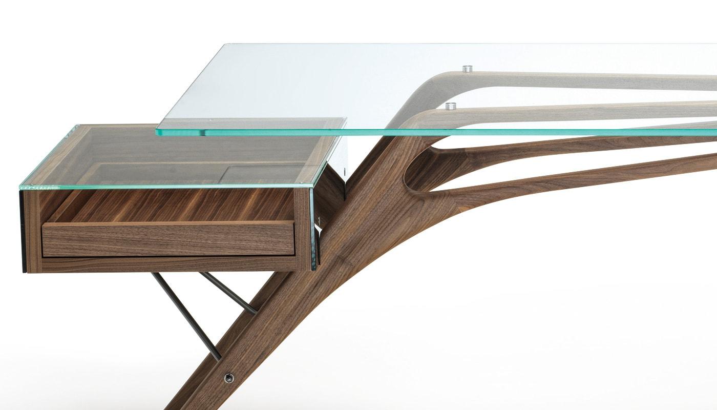 ZANOTTA Cavour scrivania gambe legno gallery 2