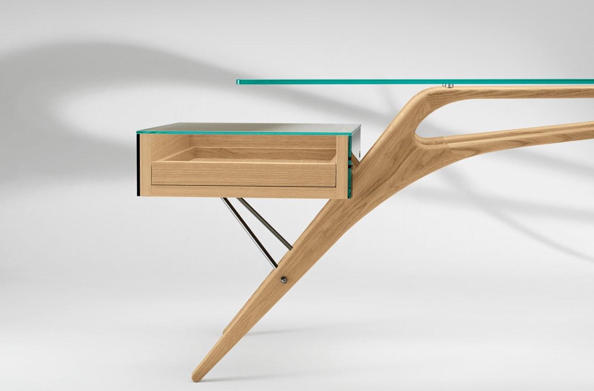 ZANOTTA Cavour scrivania gambe legno gallery 3