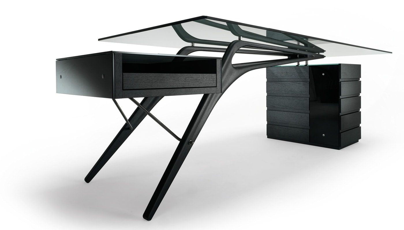 ZANOTTA Cavour scrivania gambe legno gallery 4