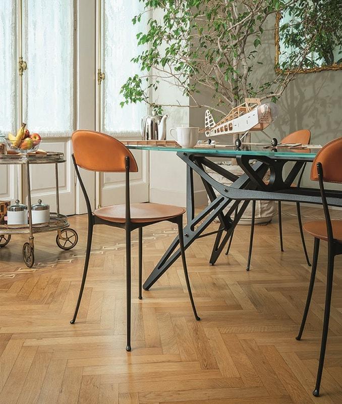 Zanotta Tonietta sedia in cuoio - gallery2