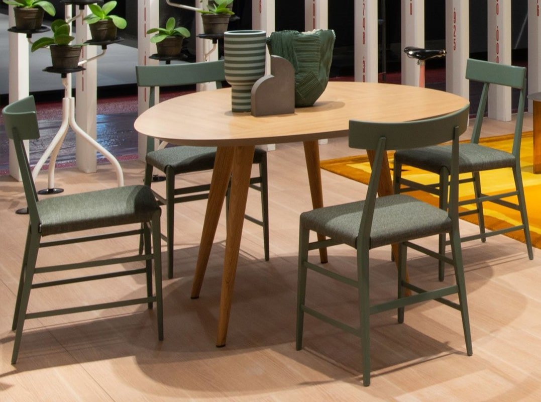 Zanotta Tweed tavolo legno - gallery 2