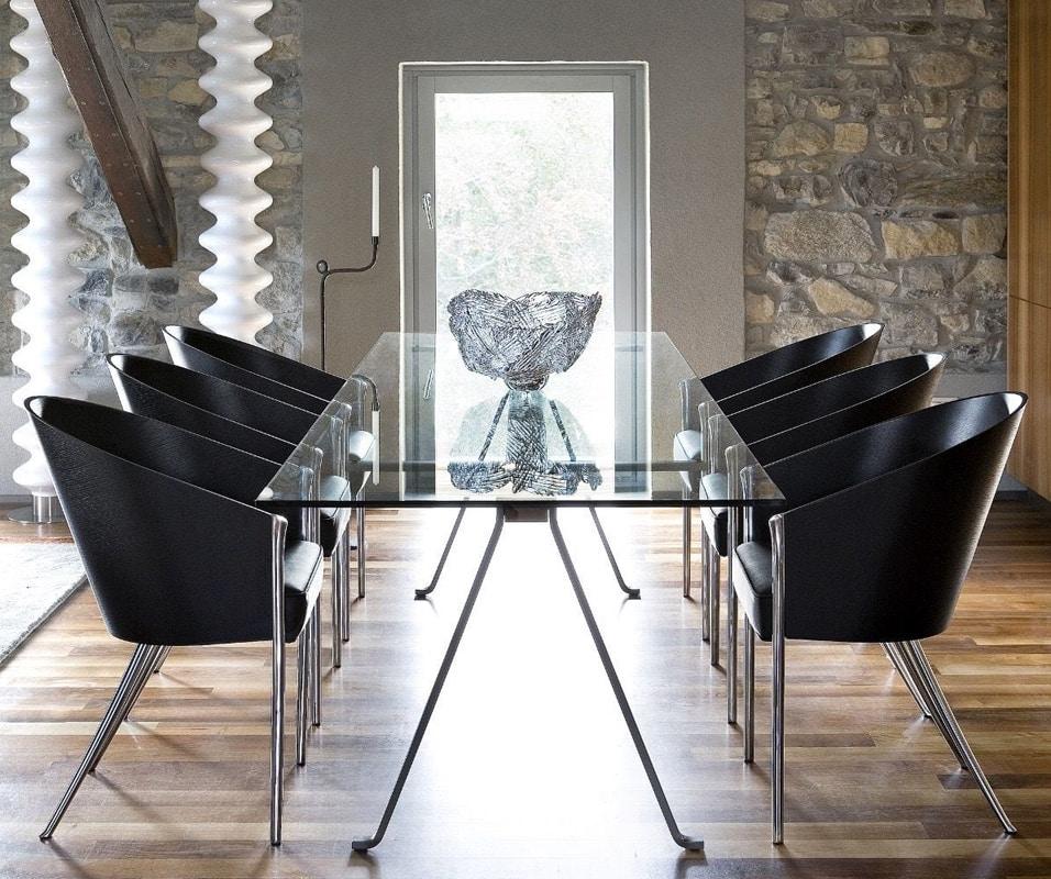 Driade Frate tavolo in vetro e trave in legno - gallery 2