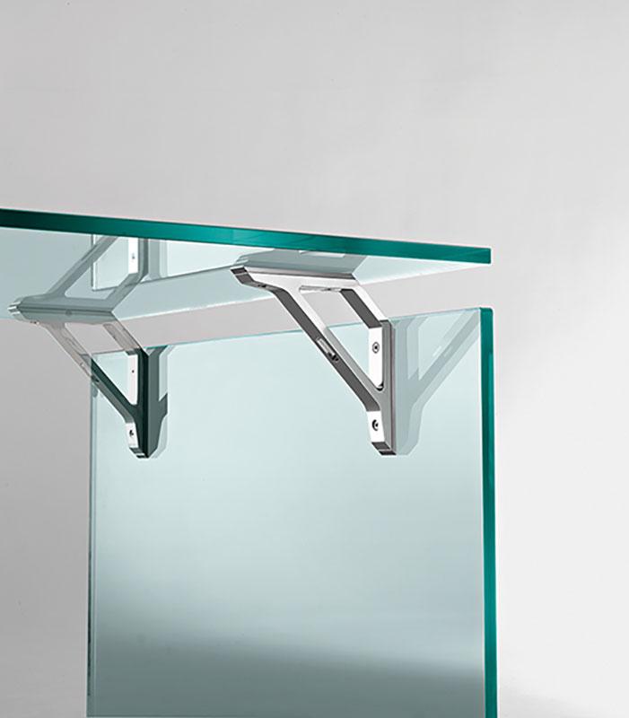 Fiam Bright scrivania in vetro